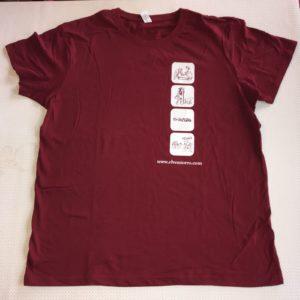 Camiseta burdeos XL