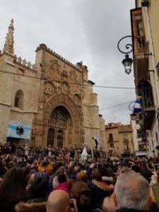 virgen de las Candelas en la Portada de Santa Maria