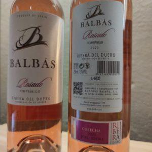 Contraetiqueta de Vino Rosado Balbas
