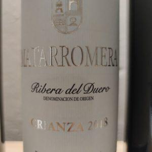 Etiqueta de vino tinto crianza Matarromera